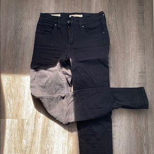 Black Levi's 721 High Rise Skinny Jean